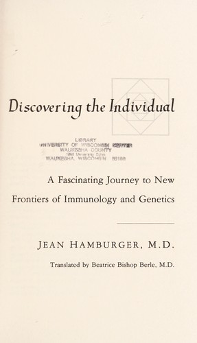 Discovering the individual by Jean Hamburger