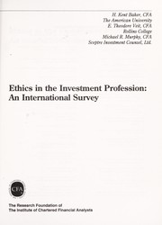 Cover of: Ethics in the Investment Profession | E. Theodore Veit