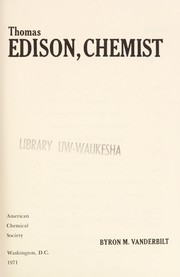 Cover of: Thomas Edison, chemist