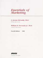 Cover of: Essentials of marketing | E. Jerome McCarthy