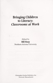 Cover of: Bringing Children to Literacy