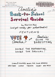 Cover of: Amelia's back-to-school survival guide