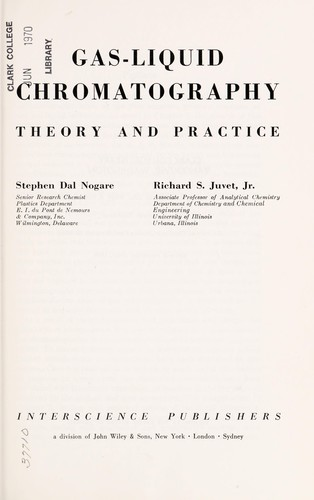 Gas-liquid chromatography, theory and practice (1962 edition