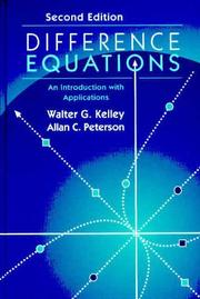 Cover of: Difference equations