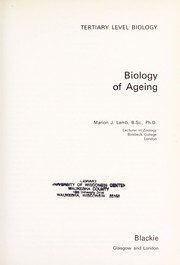 Cover of: Biology of ageing | Marion J. Lamb