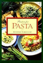 Cover of: Passion for pasta