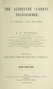 Cover of: The alternate current transformer in theory and practice