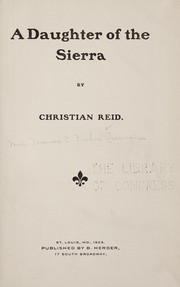 Cover of: A daughter of the Sierra