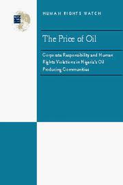 Cover of: The price of oil