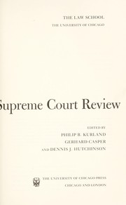 Cover of: The Supreme Court Review, 1984 (Supreme Court Review)