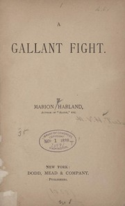 Cover of: A gallant fight | Marion Harland