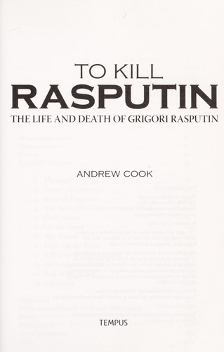 To kill Rasputin by Andrew Cook