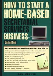 Cover of: How to start a home-based secretarial services business