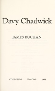 Cover of: Davy Chadwick