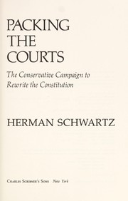 Cover of: Packing the courts