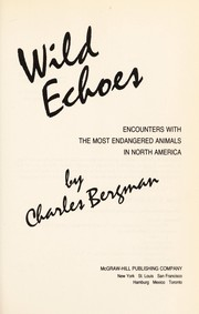 Cover of: Wild echoes