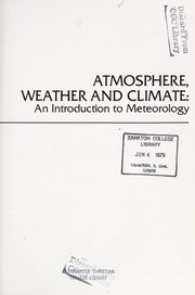 Cover of: Atmosphere, weather, and climate | John Gabriel Navarra