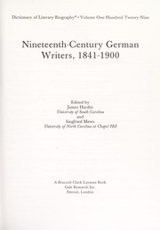 Cover of: Nineteenth-century German writers, 1841-1900