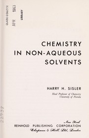 Chemistry in non-aqueous solvents by Harry Hall Sisler