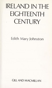 Cover of: Ireland in the eighteenth century | E. M. Johnston-Liik