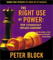 Cover of: The Right Use of Power