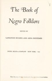 Cover of: The book of Negro folklore