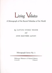 Cover of: Living volutes