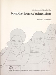 Cover of: An introduction to the foundations of education