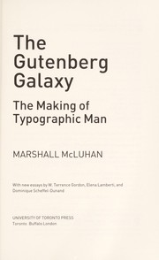 Cover of: The Gutenberg galaxy