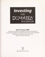 Cover of: Investing for dummies
