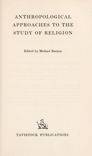 Cover of: Anthropological approaches to the study of religion