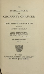 Cover of: The poetical works of Geoffrey Chaucer