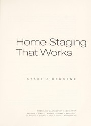 Cover of: Home Staging That Works [electronic resource] |