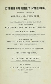Cover of: The kitchen gardener's instructor
