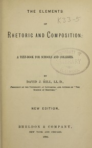 Cover of: The elements of rhetoric and compostiton