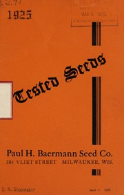 Cover of: 1925 tested seeds