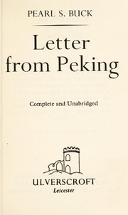 Cover of: Letter from Peking