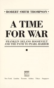 Cover of: A time for war