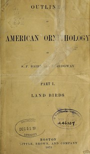 Cover of: Outlines of American ornithology