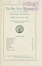 Cover of: Price list, fall 1925