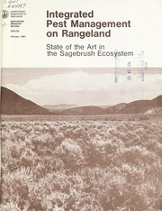Cover of: Integrated pest management on rangeland