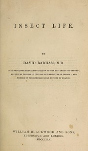 Cover of: Insect life | Charles David Badham