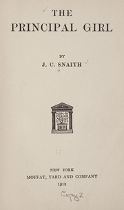 Cover of: The principal girl | J. C. Snaith