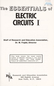 Cover of: The essentials of electric circuits