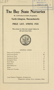 Cover of: Price list, spring 1925