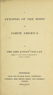 Cover of: A synopsis of the birds of North America
