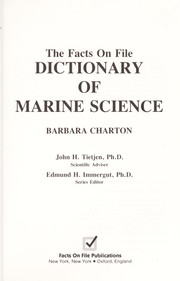 Cover of: The Facts on File dictionary of marine science |
