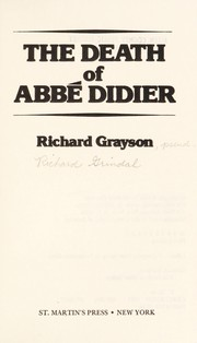 Cover of: The death of Abbé Didier