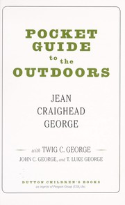 Cover of: Pocket guide to the outdoors | Jean Craighead George