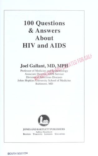 100 questions & answers about AIDS and HIV (2008 edition